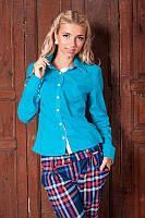 Модная молодежная женская рубашка с длинным рукавом 954-6
