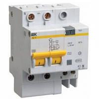 Дифференциальный автоматический выключатель АД12 2P 100мА C 10А 4,5кА IEK
