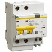 Дифференциальный автоматический выключатель АД12М 2P 30мA C 10А 4,5кА IEK