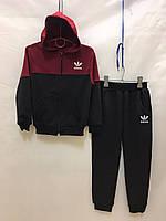 """Спортивный костюм детский для мальчика, """"Adidas """", 2-6 лет, темно-синий с бордовым"""