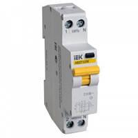 Дифференциальный автоматический выключатель АВДТ32М 10мA C 6А 4,5кА IEK