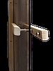 Стеклянная дверь для бани и сауны GREUS Magnet прозрачная бронза 80/200 липа, фото 2