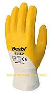 Перчатки защитные EL-k2, обрезиненные (тм Beybi)