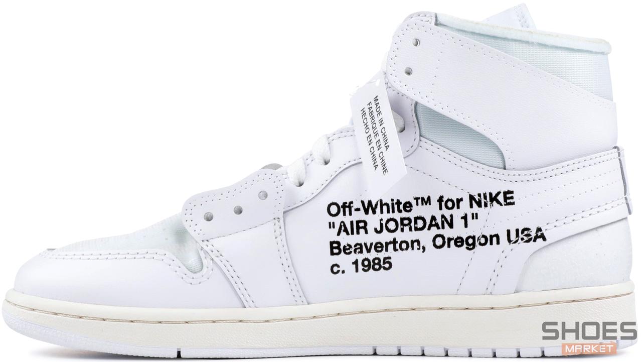 Мужские кроссовки Off White x Nike Air Jordan 1 White aq0818 100 aq0818 100 Bigl.ua