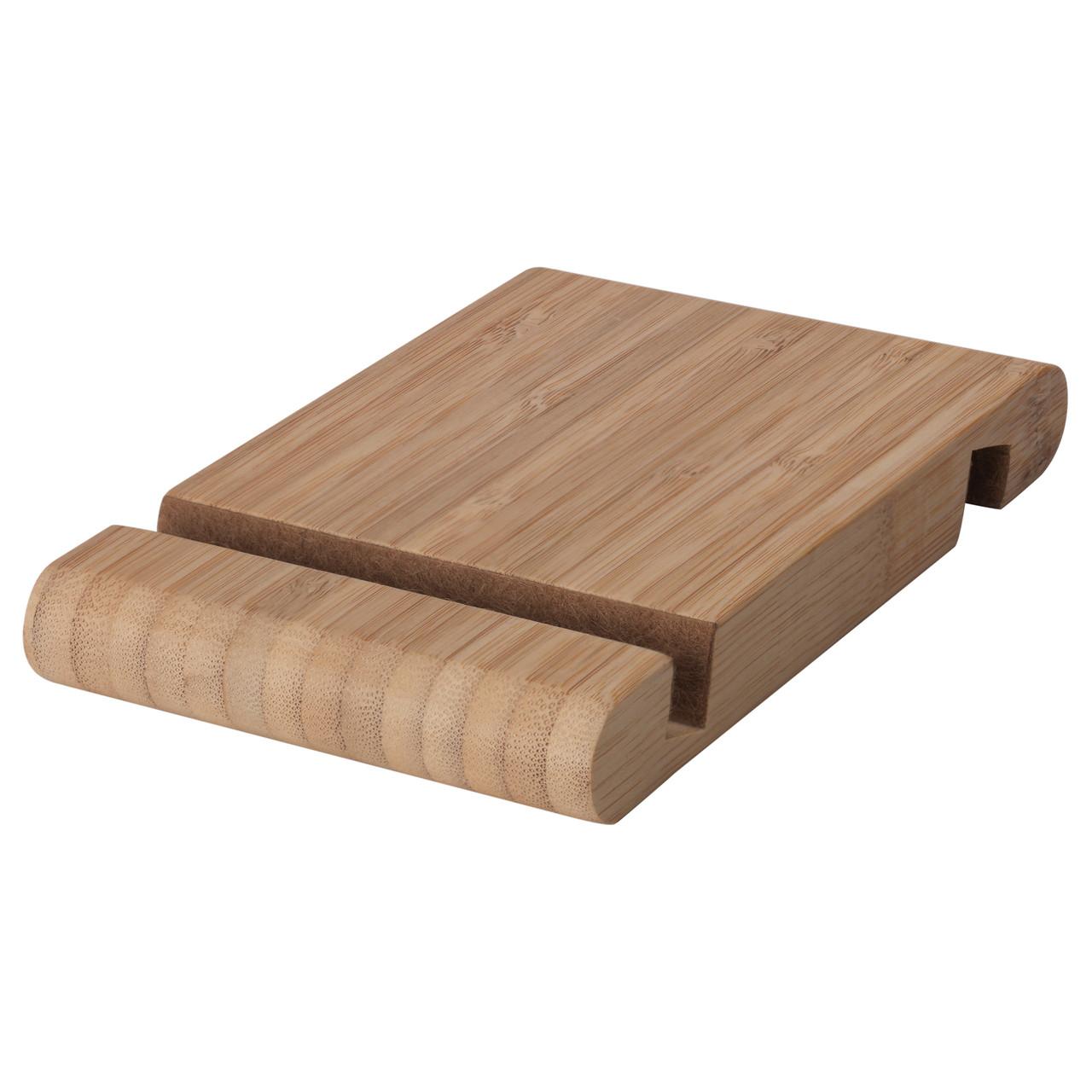 БЕРГЕНЕС Держатель для телефона/планшета, бамбук, 10457999, ИКЕА, IKEA, BERGENES
