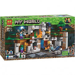 """Конструктор Minecraft Bela 10990 """"Приключения в шахтах"""" 666 деталей. Аналог Лего Майнкрафт 21147"""