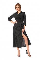 Платье-рубашка длиной до щиколотки