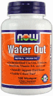 Диуретик Вотер Аут, Now Foods, Water Out, 100 Caps