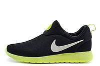 Мужские кроссовки Nike Roshe Run Slip On Gpx Black Green размер 44 (Ua_Drop_115671-44)