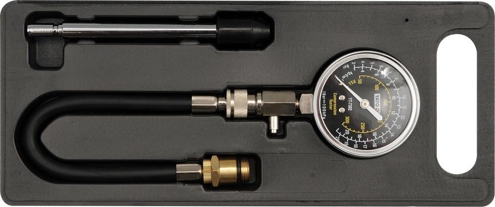 Измеритель давления сжатия, комплект адаптеров Yato