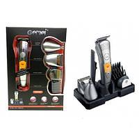 Набір для стрижки волосся і бороди Gemei GM-580 7 в 1