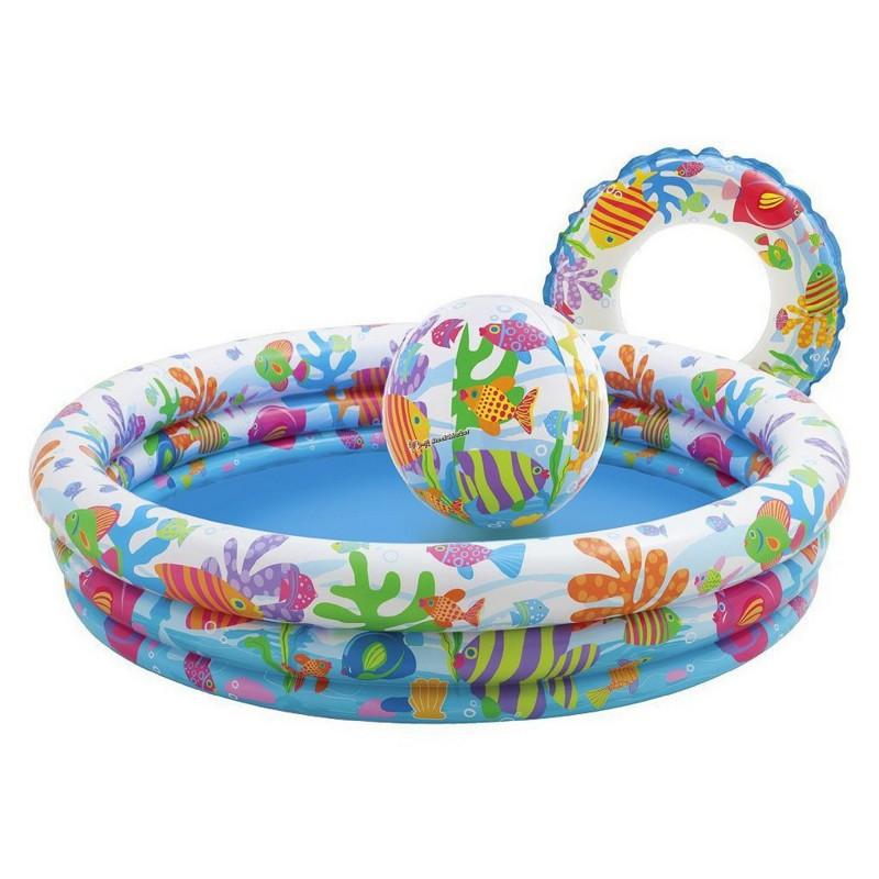Детский надувной бассейн Intex 59469 Аквариум 132x28 см