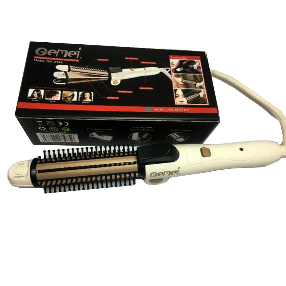 Плойка для волос Gemei GM 2986 функция трех приборов гофре плойка выпрямитель