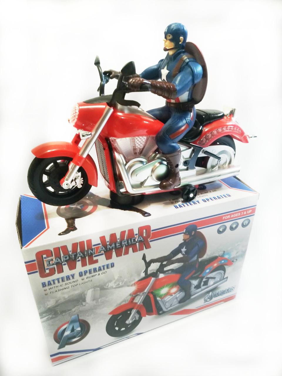 Капитан Америка на мотоцикле ABC интерактивный