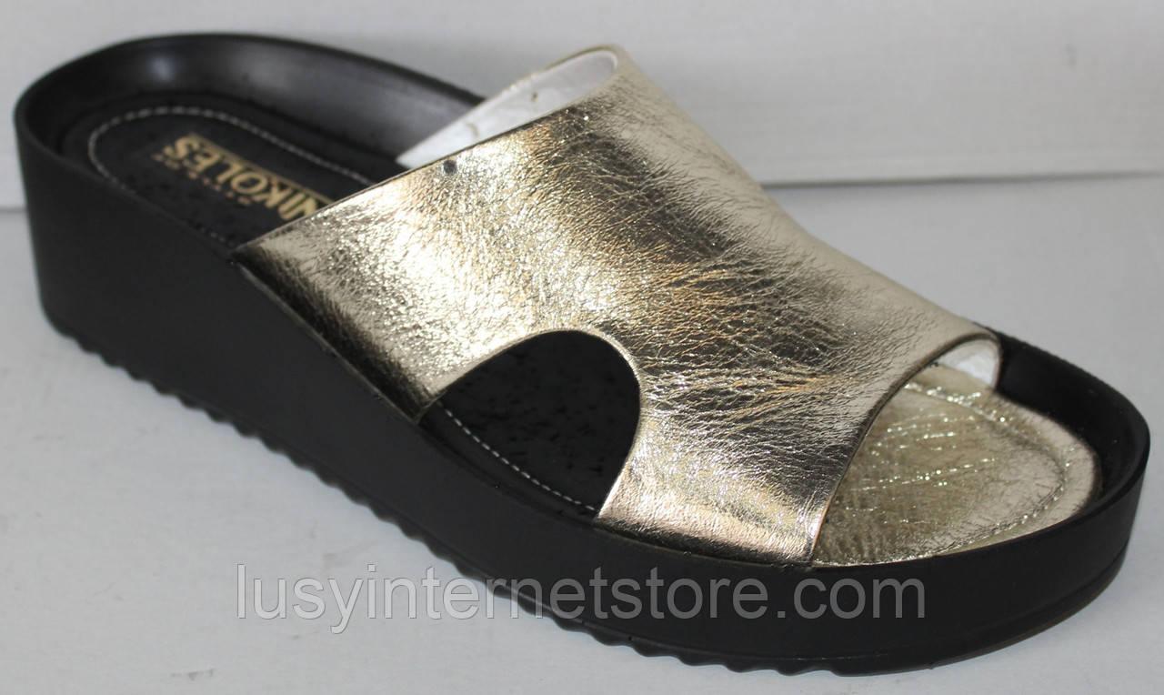 Сабо золото женские летние от производителя модель НИК1019-4