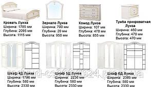 Спальня Луиза патина 4Д , фото 3
