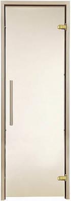 Стеклянная дверь для бани и сауны GREUS Premium 70/190 бронза матовая, фото 2