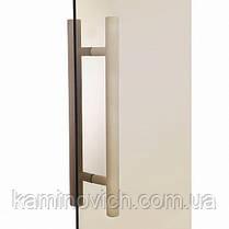 Стеклянная дверь для бани и сауны GREUS Premium 70/190 бронза матовая, фото 3
