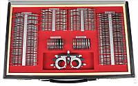 Набор офтальмологических пробных очковых линз на 232 линзы с универсальной металлической оправой, фото 1