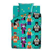 Фигурки Лего, подростковое постельное белье (поплин, 100% хлопок)