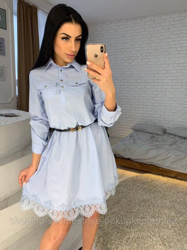 fba2fc54134 Женское льняное платье с кружевом по низу купить в Украине