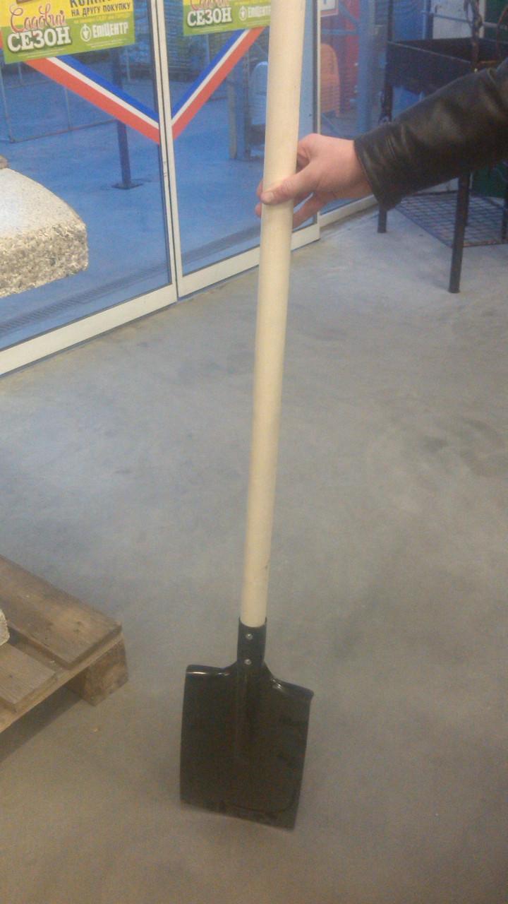Лопата штыковая с ровным полотном+держак