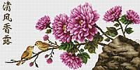 Набор для вышивания крестиком Цветы. Размер: 43,7*22 см