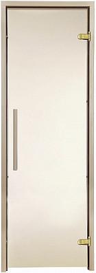 Стеклянная дверь для бани и сауны GREUS Premium 70/200 бронза матовая