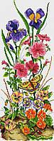 Набор для вышивания крестиком Цветы. Размер: 15,5*40 см