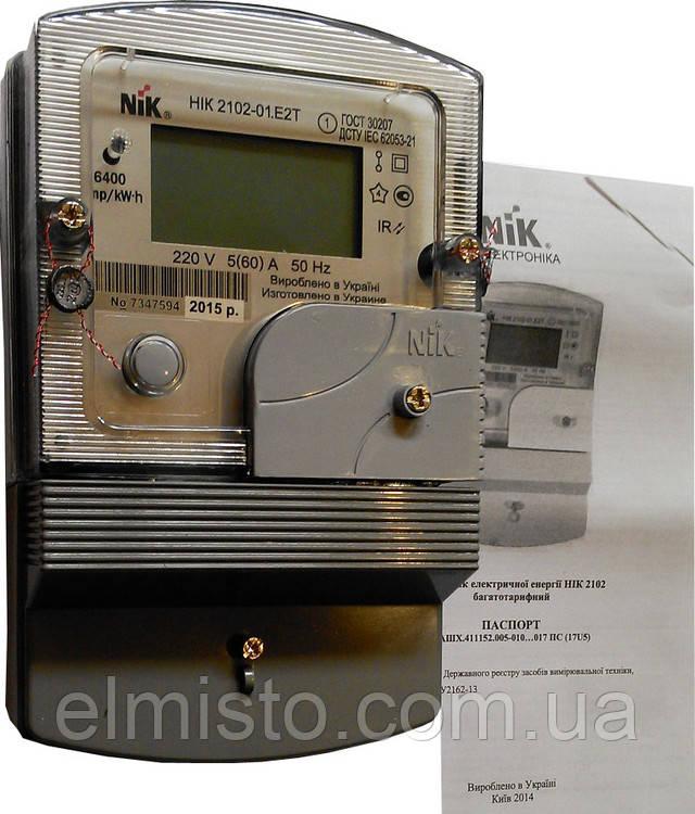 Счетчик НІК 2102-01.Е2Т1 220В (5-60)А однофазный многотарифный