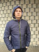 Мужская ветровка куртка короткая весна осень молодежная на синтепоне