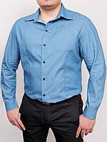 WEST рубашка длинный рукав светлый джинс #R/A