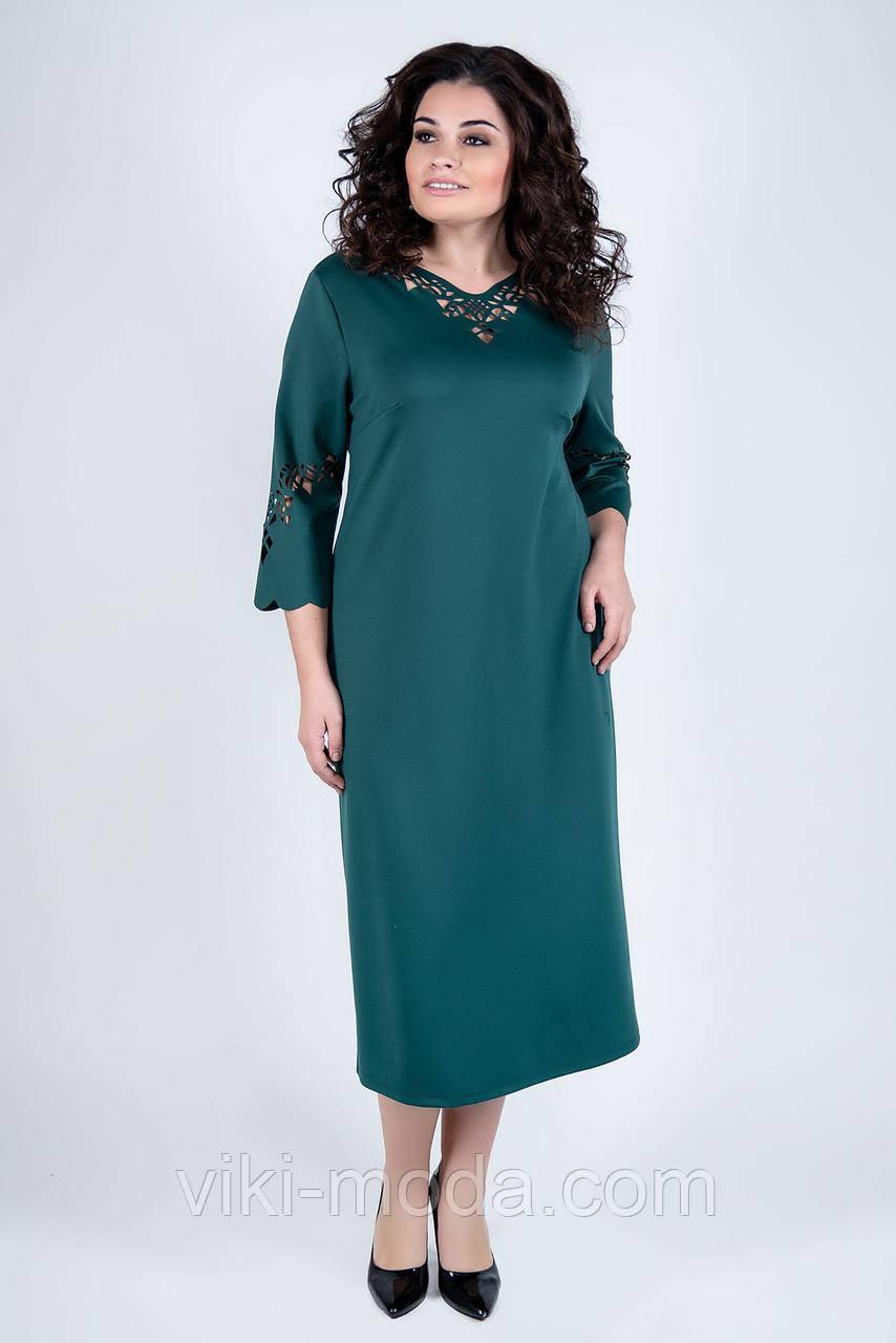 Стильное платье большого размера Молли, зеленого цвета