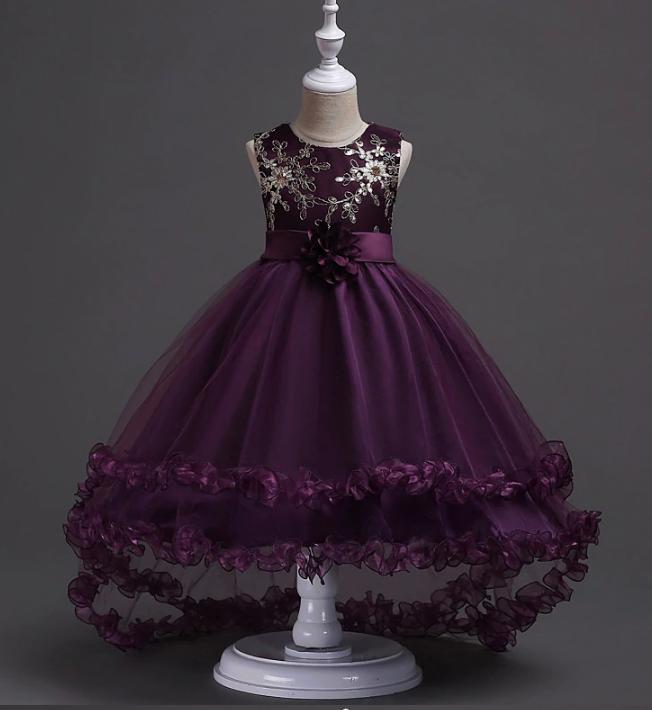 Платье бордовое бальное выпускное нарядное для девочки в садик или школу