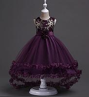 Платье бордовое бальное выпускное нарядное для девочки в садик или школу, фото 1