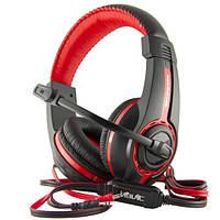 Наушники игровые Havit HV-H2116D с микрофоном, с подсветкой, красно-черные, фото 1