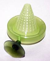 Кормушка для риб конус+присоска (зелена) Крістел (КРП-4)
