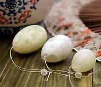 Массажные нефритовые яйца (10х5х4,5 см)