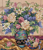 Набор для вышивания крестиком Букет цветов. Размер: 34*40 см
