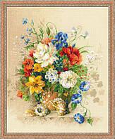 Набор для вышивания крестиком Полевые цветы. Размер: 34*41,8 см