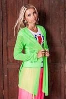 Модный летний женский кардиган 955 недорого Салатовый, фото 1
