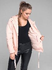 Стильная молодежная женская демисезонная куртка CW19C108CW персиковая - коллекция CLASNA 2019, фото 3