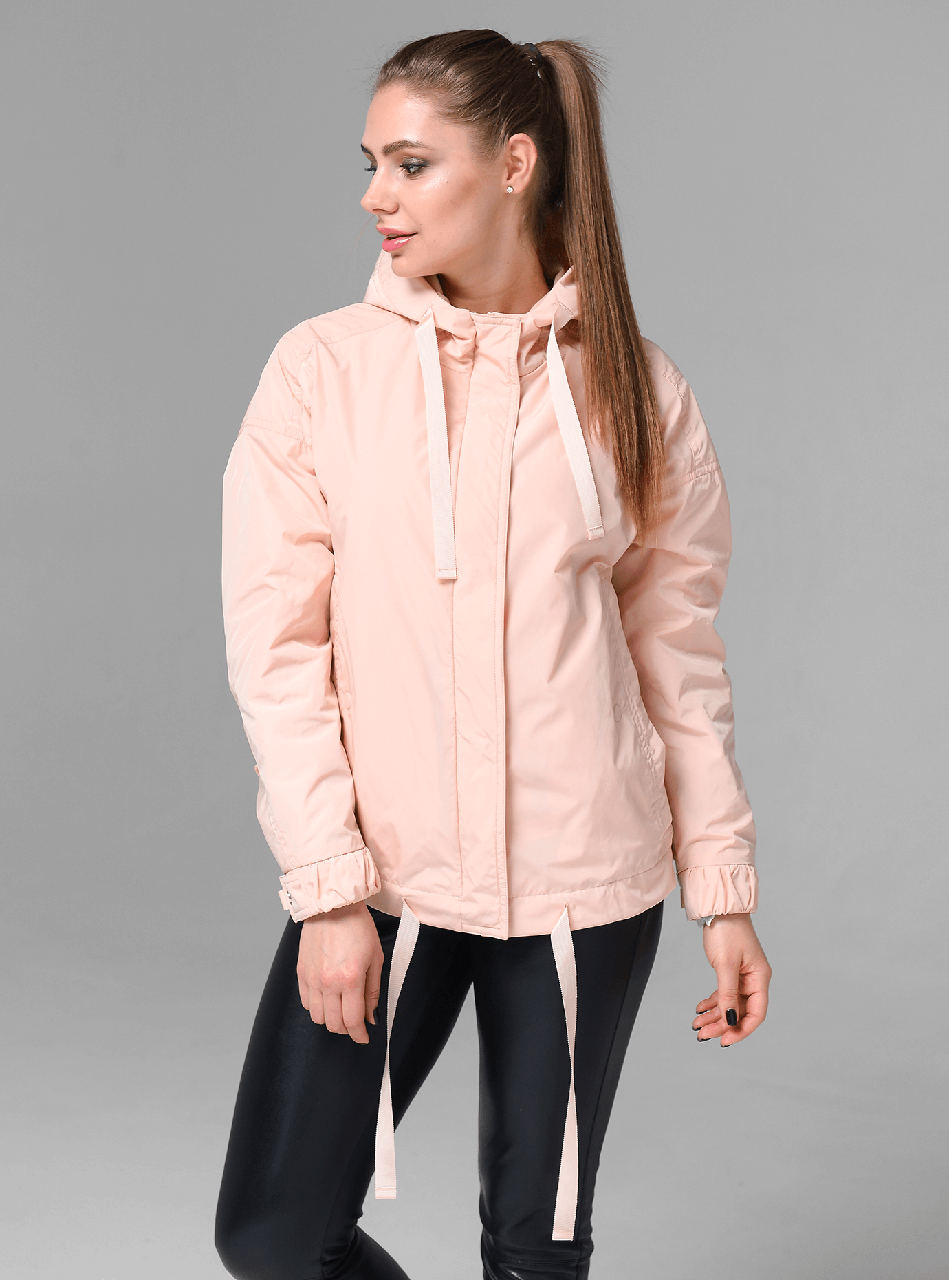 Стильная молодежная женская демисезонная куртка CW19C108CW персиковая - коллекция CLASNA 2019