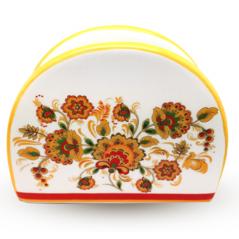 Підставка для серветок 'Квіткова розпис' (довжина-10см, h-8 см)