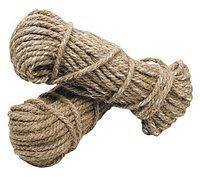 Веревка джутовая для декора деревянного дома диам. 10 мм в бухте по 50 м.п., фото 1