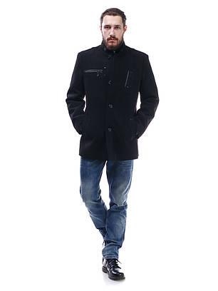 Пальто мужское из кашемира Стойка черная