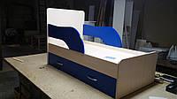 Кровать детская из ламинированного дсп с ящиком