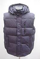 Стеганный мужской жилет безрукавка с капюшоном Большие размеры   52р, 54р, 56р, 58р, 60р  темно синий, фото 1