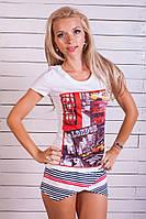 Модная женская футболка 947 с принтом | Качественная