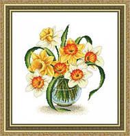 Набор для вышивки крестом Цветы. Размер: 20,5*23 см